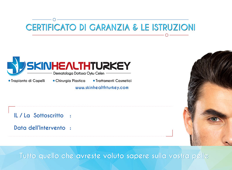 Certificato Garanzia TrapiantoCapelli Turchia